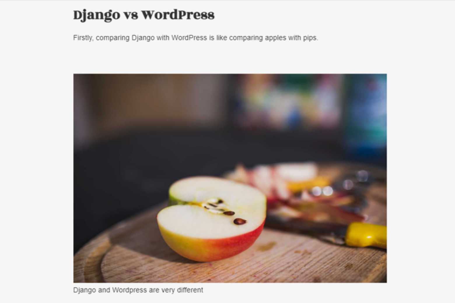 Django versus Wordpress websites